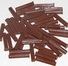 Lego Lot of 50 New Reddish Brown Technic Axle 3 with Stop Pieces Parts