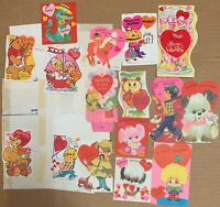 1970s Valentine lot 16 cards 1970s USA Baseball Sherlock Holmes Owl Candy Jar +