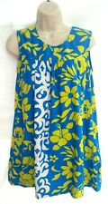 Ui Maikai Womens Dress Hawaiian Sleeveless Floral Vintage RN 28300