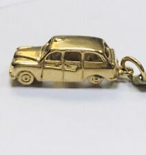 9ct GOLD LONDON TAXI HACKNEY CARRIAGE Charm/Pendant IDEAL CABBIE DRIVERS GIFT