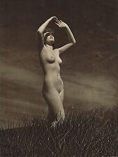 1940s Outdoor Female Nude Model John Everard Vintage Photo Gravure Print