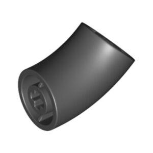 Lego 4x Genuine Technic Black 45deg Elbow Bend Cross Axle Hole 6305216 65473 NEW