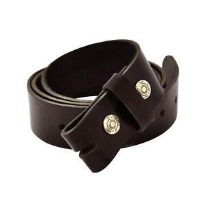 85 cm bis 120 cm braun Wechsel-Gürtel für Belt Buckle Leder #001