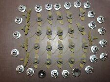 """25 pcs Nos hood door body side trim moulding clips nuts sealer 3/4"""" - 7/8"""" Ford (Fits: Edsel)"""
