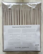 "LAURA ASHLEY STEPHANIE NATURAL BLACKOUT CURTAINS. Size W 64"" x L 54"""