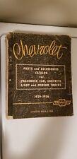VTG 1929 - 1956 Chevrolet Parts and Accessories Catalog Corvette, Pickup Truck