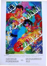 "Leroy Neiman #d Bookplate ""Ali-Foreman Zaire"" Boxing Champions Fight Africa Art"