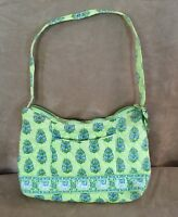"Citrus Elephant Vera Bradley purse bag green shoulder bag 10"" small tote"