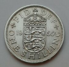 SHILLING GREAT BRITAIN 50 PIECES 1966 UNCIRC KM #904 ENGLISH