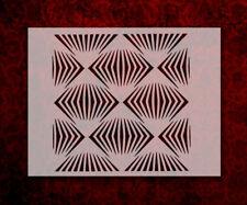 "Illusion Pattern Lines 8.5"" x 11"" Stencil FAST FREE SHIPPING (642)"