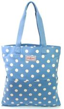Cath Kidston Blue Shopper Washed Button White Spot Tote Shopper Bag RRP £28