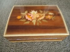 Vintage Deichert Ballerina Floral Music Box West Germany Plays Schumann