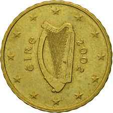 [#466275] IRELAND REPUBLIC, 10 Euro Cent, 2002, TTB, Laiton, KM:35