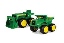 TOMY John Deere Sandkasten Bagger und Kipplaster SET Robust Sand Spielzeug LKW