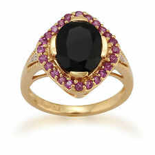 Cluster Oval Not Enhanced Fine Gemstone Rings