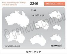 METAL CLAY DESIGN TEMPLATE STENCIL - MAPS OF AUSTRALIA
