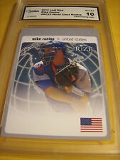 MIKE ZUNINO MARINERS 2012 LEAF RIZE WORLD CLASS ROOKIE RC # WC-23 GRADED 10