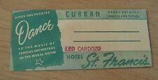 "RARE 1946 Ticket Stubs/Envelope~""CURRAN THEATRE/St. FRANCIS HOTEL""~San Francisco"