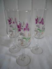 Grands verres à pied décor émaillé