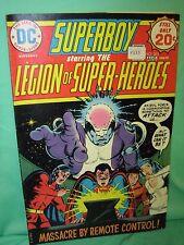 Superboy #203 Legion Super Heroes Invisible Kid Killed 1974 Dc Comics G/Vg