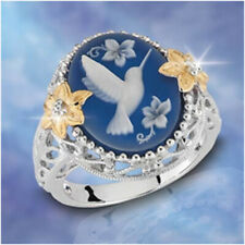 Animal Jewelry Bird Sapphire Women Men 925 Silver Vintage Cocktail Rings Sz6-10