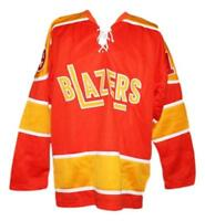 Any Name Number Size Philadelphia Blazers Retro Custom Hockey Jersey Orange