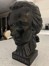 Vintage Rare Mozart Statue Bust Composer