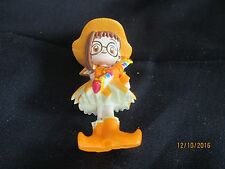"Doremi Japanese ANime PVC 3"" figure in orange  dress and hat"