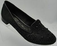Rock & Republic Women's BLACK Beaded Leather Ballet Flats Shoes Sz 6M