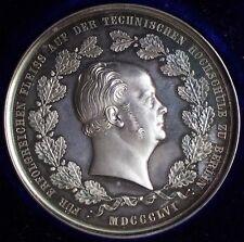 Argent Médaille preussen 1856 université technique * belle pièce * rare * MD 22