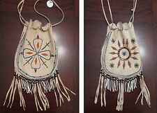 """Antique Native American Beaded Bag (possibly Apache ?) Large 14"""" piece"""