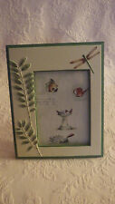 Resin Picture Frame Firefly Leaves Birdhouses Burnes of Boston Holds 5x7 Photo