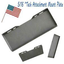 "5/16"" Quick Tach Attachment Mount Plate Skid Steer Loader For Bobcat Kubota New"