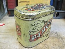 PAMCO TOBACCO CAN SMOKING MIXTURE RARE  TIN EARLY 1900'S ANTIQUE CAN
