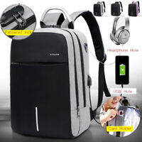 Men's Anti-Theft Password Lock Backpack USB Charging Laptop Shoulder School Bag