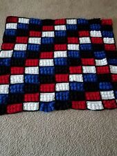 Crochet Lego Blocks Pattern Blanket For Infants/Children