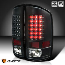 Black 2002-2006 Dodge Ram 1500 2500 3500 Led Tail Lights Brake Lamps Left+Right