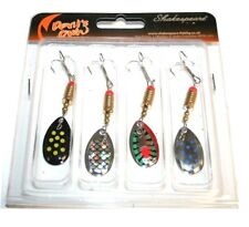 4 x Shakespeare Spinners Spinner Selection  Pike Trout Bass Spoons 7g 1279627