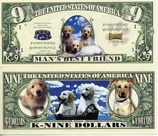 LE CHIEN - BILLET DOLLARS US ! COLLECTION Animaux Familiers Dogs race Canine