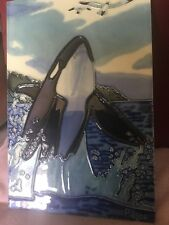 Superb Large Contemporary Tile Depicting A Whale Leaping Out Of The Water