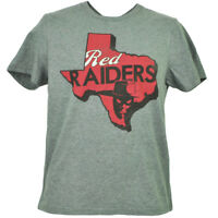 NCAA Texas Tech Red Raiders Gray Tshirt Tee Mens Short Sleeve State Map Logo