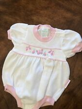 New listing Vintage 1980s Health-Tex Girls Bubble Romper Shorts Pink Sz 6-9 months