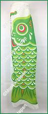 Koinobori Japanese Carp Streamer Green Koi Nobori Fish Flag Windsock Good Luck