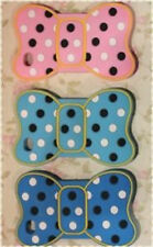 Cover morbida a forma di fiocco con pois colori a scelta per Iphone 4 e 4s