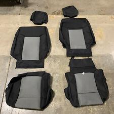 2012-2014 Ford F-150 Custom Endura Black Gray Front Seat Covers GTF544ABENCB