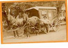 Real Photo Postcard RPPC Iceman & Horsedrawn North Shore Ice Wagon - Occupat