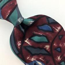 VINTAGE OSCAR DE LA RENTA TIE US MADE ABSTRACT Deco Silk Necktie Ties I7-140