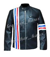 Peter Fonda Genuine Leather Easy Rider Stylish Biker Jacket with US Flag #508
