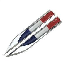 2pcs France FR National flag Metal Chrom Badge Decal Emblem Sticker