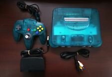 Nintendo 64 Limited Clear Ocean Ice Blue Console Japan N64 system US Seller